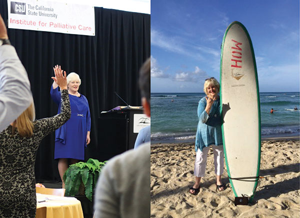 Amy Berman with Surfboard