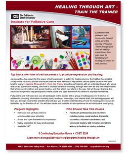 Healing Through Art Brochure