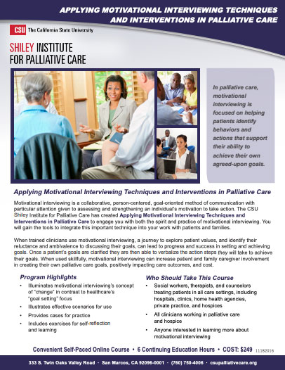 Motivational Interviewing Brochure