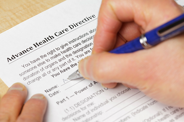 Filling out advance directive