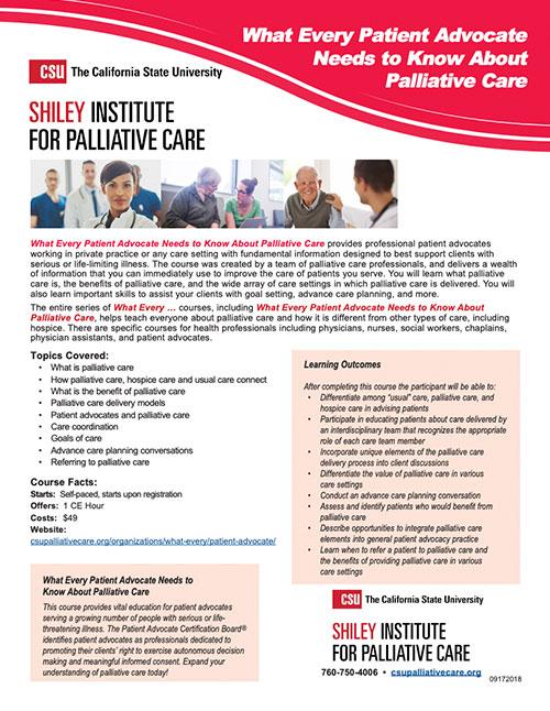 Patient Advocate Brochure